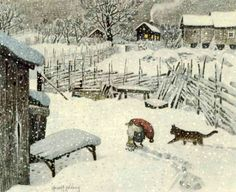 """Great Books for Children: """"Winters come and winters go, Summers come and summers go""""...Soothing words of the Tomten"""