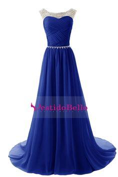 2015 Scoop Vestidos de baile una línea blusa plisada de gasa con los granos $ 149.99 VTOPYCJLBDM - vestidobello.com