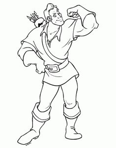 The Beauty And Beast Coloring Pages Called Gaston To This Character Is Arrogant Villain Of Film