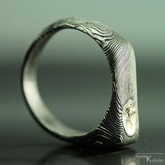 Custom mens Ring Mens jewelry Ring for him Hand forged by KREDUM, $259.00