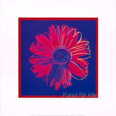 Andy Warhol - Daisy, c.1982 (blue and red)