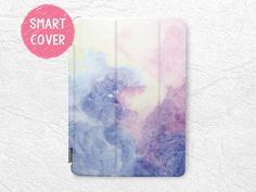 Pastel Color Purple Paint Smart Cover for iPad Mini, iPad Mini 2 retina, iPad Mini 3, iPad Mini 4 tablet Smart cover with back case -X20