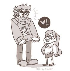 Mabel makes Ford a sweater.