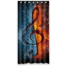 Cool Shower curtain Musical Note