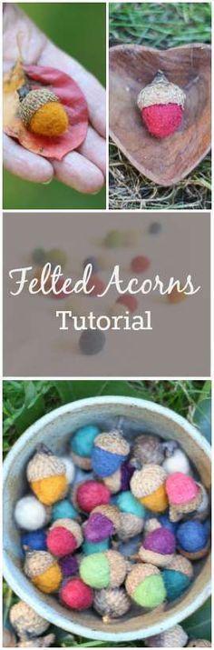 DIY How To Make Beautiful Felt Acorns