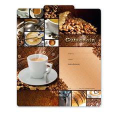 Gutscheinvorlage für Caféhaus   #Café #Kaffeerösterei #Caféhaus #Kaffee #Coffee #Gutschein #Geschenkgutschein Shops, Restaurant, Tableware, Fine Dining, Templates, Gifts, Tents, Dinnerware, Diner Restaurant
