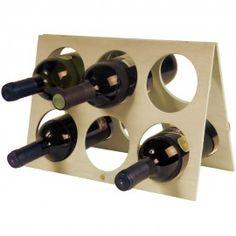 Stand portabottiglie in legno per 6 bottiglie €1.83 IVA Inclusa