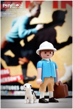 Titin & Snowy Custom Playmobil Figure Image only - Links to JPG