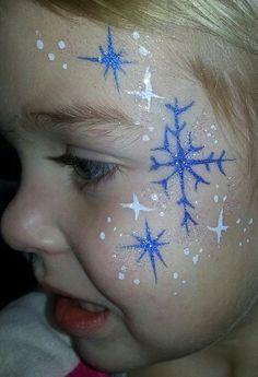 winter or frozen cheek art