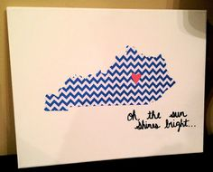 DIY: Chevron Kentucky art.  Who's making this for me?