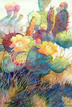 CACTUS SHADOWS-CARE SET 3 by Mary Shepard  ~  x