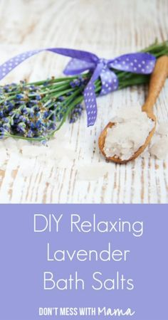 Lavender is the classic bath time fragrance, and it's really easy to make lavender bath salts in your own home, this is a great recipe for beginners. #pioneersettler