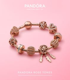 Design your own mixed metals look and create jewelry stacks with layered necklaces and stacking rings in Pandora Rose™ and sterling silver. Pandora Gold, Pandora Bracelets, Pandora Jewelry, Charm Bracelets, Types Of Diamonds, Rose Gold Charms, Schmuck Design, Vintage Costume Jewelry, Bracelet Designs
