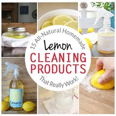 15 All-Natural Homemade Lemon Cleaning Products (That Really Work!) - Bren Did All Natural Cleaning Products, Deep Cleaning Tips, House Cleaning Tips, Spring Cleaning, Cleaning Hacks, Green Cleaning, Cleaning Recipes, Cleaning Solutions, All You Need Is