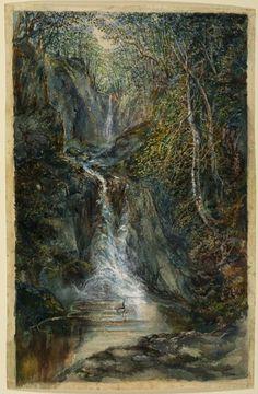 Samuel Palmer  - Waterfall, Pystyll Rhaidr