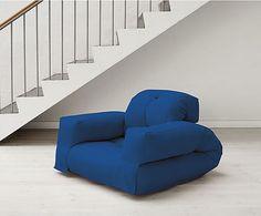 Sillón convertible en futón Hippo - azul