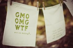 article about GMOs on etsy and a great muslin drawstring bag from pepperjackhome.