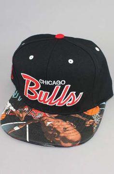 939b5e1ea5e Chicago Bulls MJ Caricature Strapback Hat (Black)(Script) by