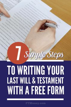 7 Steps to Writing Your Last Will & Testament Have you put off writing your will? Here is just what you need: 7 simple steps to getting it done for free. Read this article and find out how to get your last will and testament in place today. Funeral Planning Checklist, Retirement Planning, Emergency Planning, Retirement Savings, Emergency Preparation, Emergency Binder, Emergency Preparedness, Survival, When Someone Dies