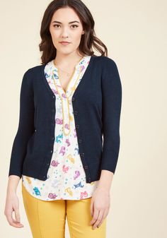 Charter School Cardigan in Navy in M, #ModCloth