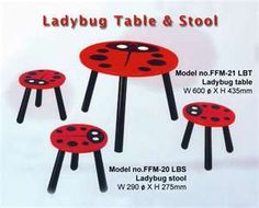 Ladybug bedroom going to do this to Olivia's little table for her new room Ladybug Room, New Room, Kids Bedroom, Baby Room, Playroom, Nursery Ideas, Room Ideas, Baby Gifts, Lady Bugs