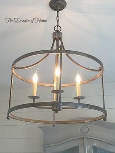 Would this work in Family room? The Essence of Home: Old World Lighting Lighting Makeover, Lanterns Decor, Lantern Light Fixture, Farmhouse Lighting, Living Room Lighting, Rustic Chandelier, Barn Lighting, Light Fixtures, Entryway Light Fixtures