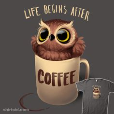 Shop Night owl coffee totes designed by BlancaVidal as well as other coffee merchandise at TeePublic. Coffee Cafe, Coffee Humor, Coffee Quotes, Coffee Is Life, I Love Coffee, Black Coffee, Bar Kunst, Desenho New School, Owl Coffee