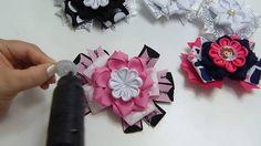 Tutorial flores  faciles en liston para lazos faciles, Video 538,How To ...