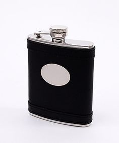 Black Leather Stainless Steel Flasks