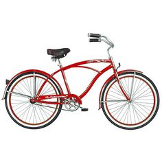 "26"" Micargi Tahiti Men's Beach Cruiser Bike, Red  $249.00"