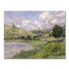Claude Monet 'Landscape Vetheuil 1879' Canvas Art - Free Shipping Today - Overstock.com - 15368482 - Mobile