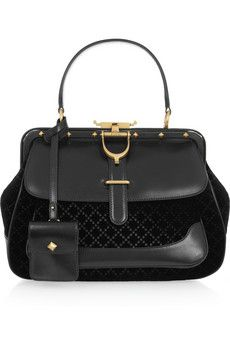 05e8fa3b4a6 Gucci - Leather and quilted velvet tote
