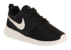 Nike Roshe Run Black Sail Trainers Shoes | eBay