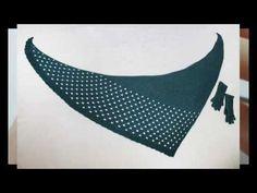 Треугольная шаль / Треугольный платок спицами от кончика / Формула