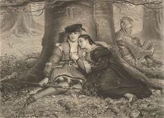 """Sir John Everett Millais (1829 – 1896), """"Rosalind and Celia"""" by sofi01, via Flickr (another great one, I could spend forever looking at these images)"""
