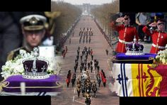 Above, The impressive funeral cortege of Her Majesty Queen Elizabeth the Queen Mother goes down The Mall, having Buckingham Palace as backdrop. King George, King Charles, British Nobility, Lady Elizabeth, Uk History, Duke Of York, Queen Mother, Lake Geneva, British Monarchy