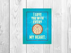 Funny Kitchen Art Print, Pizza Quote Poster 8 x 10 via Etsy