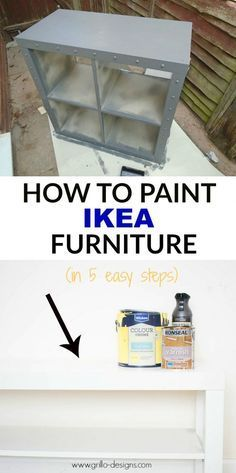 To Paint IKEA Furniture (in 5 easy steps) IKEA furniture can be tricky to paint at times, but if done the right way, can make such a huge difference! Here are my steps on how to paint IKEA furniture.Step Step or Steps may refer to: Painting Ikea Furniture, Furniture Projects, Home Projects, Home Furniture, Furniture Design, Ikea Paint, Furniture Stores, Ikea Furniture Makeover, Diy Furniture Upcycle