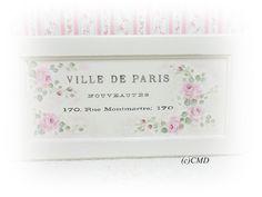 Ville De Paris Hand Painted Rose Wall Sign by CelestinaMarieDesign, $50.00