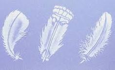 Image result for images stencilled feathers