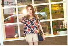 2pc Floral Tee  USD $9.40