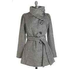 ModCloth Vintage Inspired Long Long Sleeve Carefully Chosen Coat