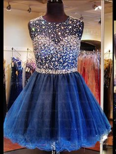 The Blue prom dress are fully lined, 4 bones in the bodice, chest pad in the bust, lace up back or zipper back are all available, total 126 colors are available. This dress could be custom made, there are no extra cost to do custom size and color. Description of Blue prom dress 1, Material: ...