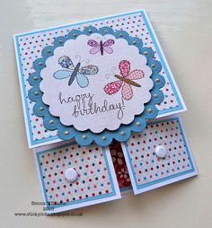 Dutch fold Birthday card by Emma Williams