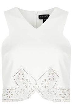 Pretty Lace Trim Crop Top £26