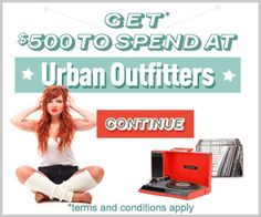 Spend $500 at Urban Outfitters on Us!