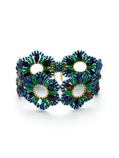 miguel ases | Miguel Ases | Floral Cut Out Bracelet