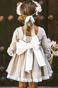 24 Country Flower Girl Dresses That Are Pretty ❤ country flower girl dresses with three quote sleeves with bow delucia vestidosdearras ❤ hochzeitsgast dresses Flower Girl Dresses Country, Little Girl Dresses, Girls Dresses, Baby Flower Girls, Toddler Flower Girl Dresses, Childrens Bridesmaid Dresses, Fall Flower Girl, Vintage Flower Girls, Heart Flower