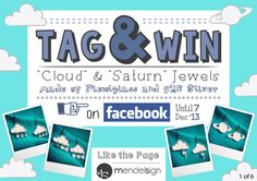 Tag & Win-01 Clouds, Concept, Jewels, Tags, Jewerly, Gemstones, Fine Jewelry, Mailing Labels, Gem