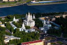 Smolny Cathedral in St. Petersburg, Russia. The Cathedral is part of the architectural ensemble of the Smolny Monastery, which is located on the left bank of the Neva River opposite Smolny embankment.